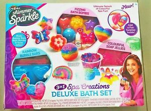 Girls-Shimmer-N-Sparkle-Creative-Spa-BathBomb-Soap-Jellies-Gift-Present-Set-Kids