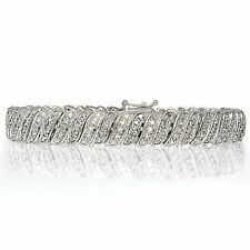 1.00ct TDW Diamond Wave Link Tennis Bracelet in Brass