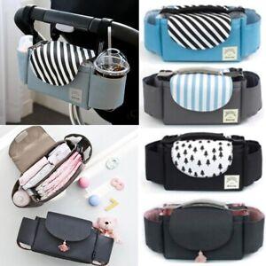 Baby-Organiser-Mummy-Bag-Storage-Buggy-Stroller-Pram-Pushchair-Bottle-Cup-Holder