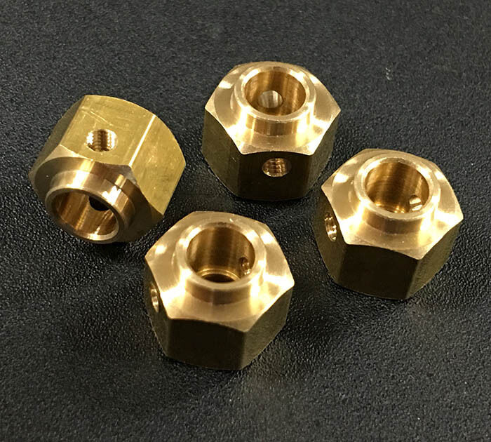 10 sets - TRX-4   12mm Brass Hex Adaptor 8mm offset w Free shipping ( AR-TRX4HU)