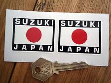SUZUKI JAPAN Japanese Hinomaru Style Stickers 50mm Pair Motorcycle Bike GSXR GSX