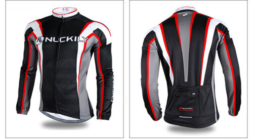 Mens Windproof Cycling Bike Bicycle Sport Clothing Set Long Sleeve Jersey/& Pants