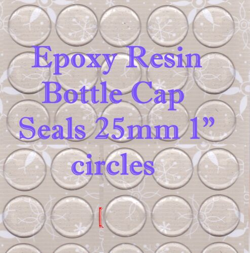 """CIrcle Clear Dome For Bottle Caps /&Cabachons 1000 Epoxy Resin Stickers 1/"""" 25mm"""