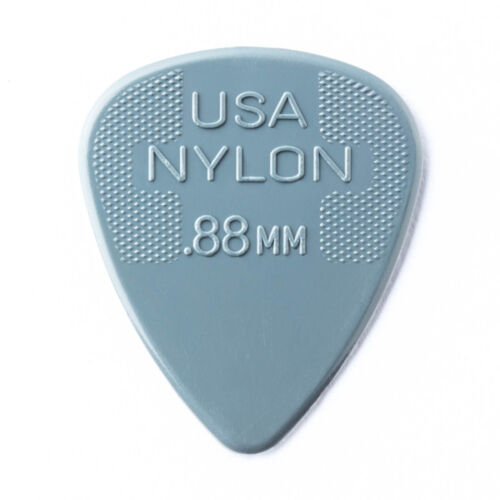 Jim Dunlop Nylon Standard  Guitar Picks 0.88mm Gauge 72 Pack Plectrums