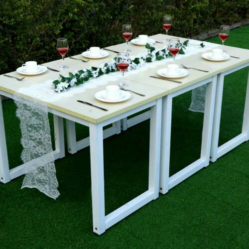 White Lace Floral Table Runner Wedding Banquet Party Boho Home Tablecloth Decor