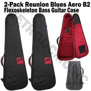 2-PACK-REUNION-BLUES-AERO-B2-BASS-GUITAR-CASE-FLEXOSKELETON-FREE-SHIP-NEW