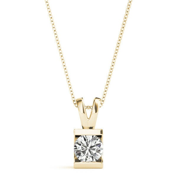 1.00 CT FOREVER ONE MOISSANITE ROUND SOLITAIRE PENDANT PERFECT GIFT