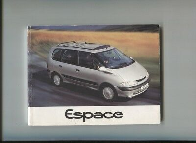 Renault Espace 2.0 , V6 , 2.2 Dt Notice D'entretien De Octobre 1996