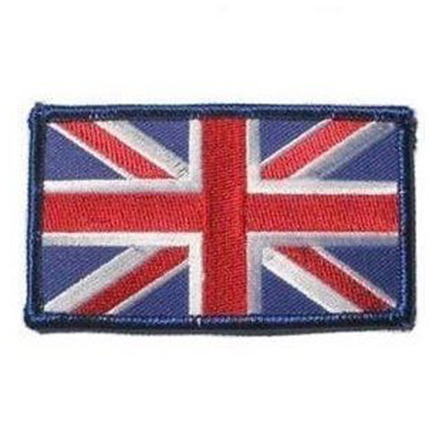 NEW MIL-COM SEW ON CLOTH UNION JACK EMBROIDERED FLAG PATCH RED WHITE & BLUE,UJ