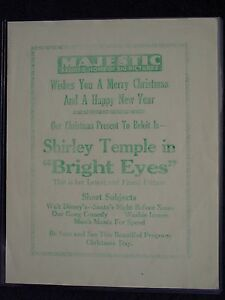 1934-Pre-Release-BRIGHT-EYES-Shirley-Temple-Flyer-amp-Photo-BELOIT-WI-Theater-Show