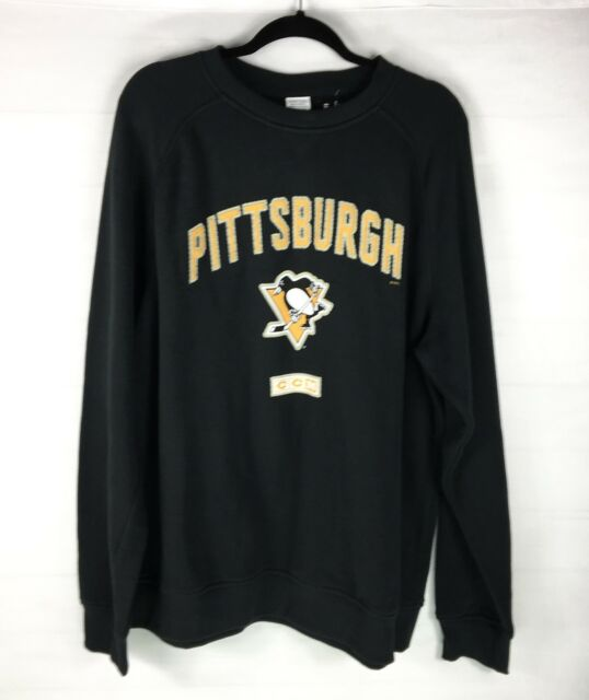 Pittsburgh Penguins NHL CCM Black Crewneck Sweater Sz XL Heroes Of Hockey  NWT d16fe243e