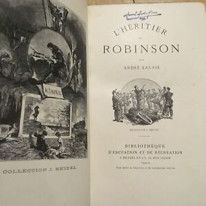 1884-Andre-Laurie-L-039-heritier-de-Robinson-Leather-Binding