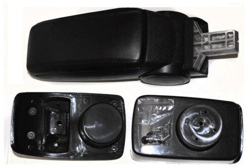 Ford fiesta VII 08-14 el reposabrazos central apoyabrazos de piel sintética negro de referencia
