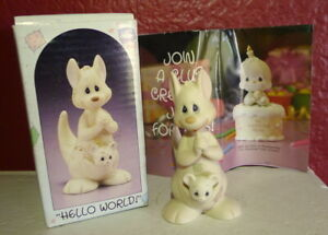 Precious-Moments-Kangaroo-Hello-World-1988-Birthday-Series-Enesco