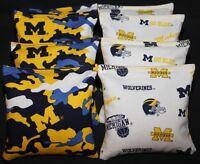 University Of Michigan Wolverines Camo 8 Cornhole Bean Bags Double Sided