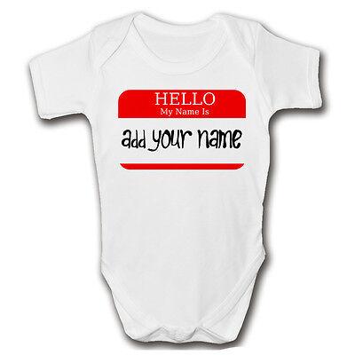 Abile Hello Il Mio Nome E'... Personalizzato Baby Grow | Aggiungi Ai Bambini Nome | Carino Romper-mostra Il Titolo Originale Grande Assortimento