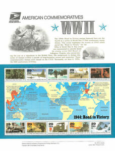 #440 29c 1944 World War II MS10 #2838 USPS Commemorative Stamp Panel