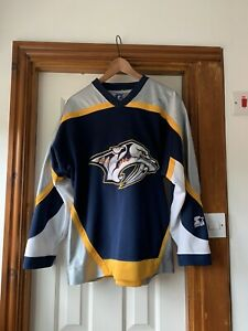 NHL-ICE-HOCKEY-JERSEY-2005-07-NASHVILLE-PREDATORS-CCM-SMALL-VINTAGE