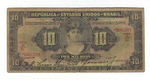 Le-Bresil-10-Mil-riz-1927-p103-R-184-Brazil-billet