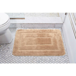 LivingBasics® 100% Polyester Microfiber Mat Door floor Mat Welcome Doormat Brown