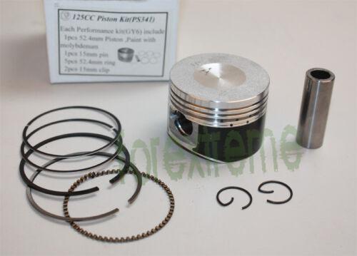 Kolbensatz Molybdän beschichtet 152QMI 125ccm 52,4mm GY6 4-Takt Chinaroller
