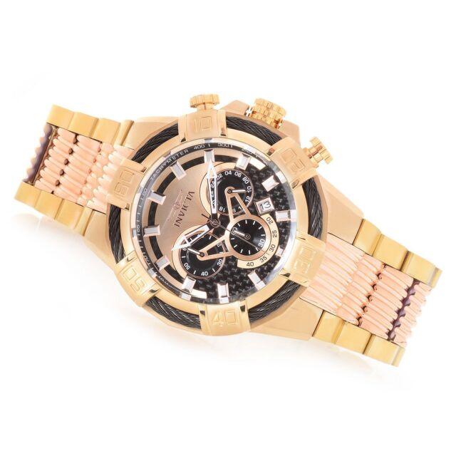 New Mens Invicta 25765 52mm Bolt Chronograph Steel Bracelet Watch