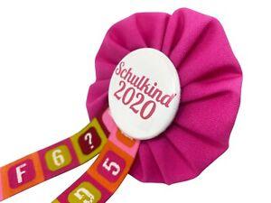 Orden-Einschulung-Schultuete-Schulkind-2020-Anstecker-Button-Zuckertuete-Schultag