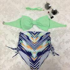 Women Push-up Padded  Bandage Bikini Set Swimsuit Triangle Swimwear Bathing S