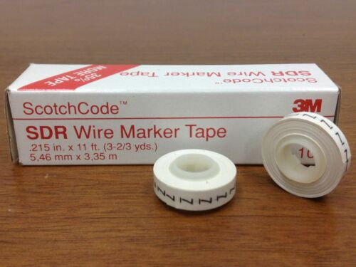 SDR Wire Marker Tape #7 ScotchCode 3M NEW Box of 10 rolls