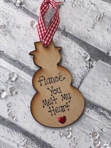 Personnalisé Noël Tree Décoration Vous fondre mon cœur Cadeau Boyfriend Mari
