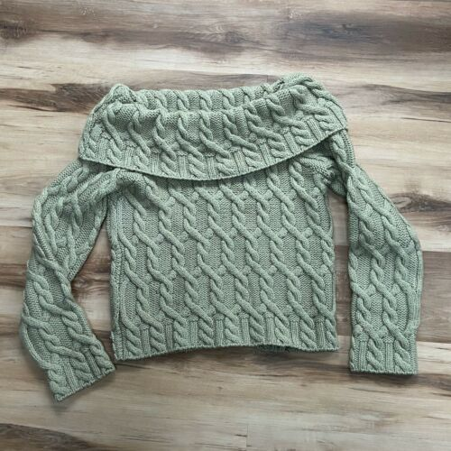Paul James 100% Wool Cropped Sweater Chunky Knit G