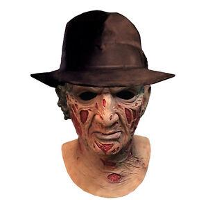 Freddy-Krueger-Nightmare-On-Elm-Street-Deluxe-Latex-Mask-amp-Hat-Halloween-Costume