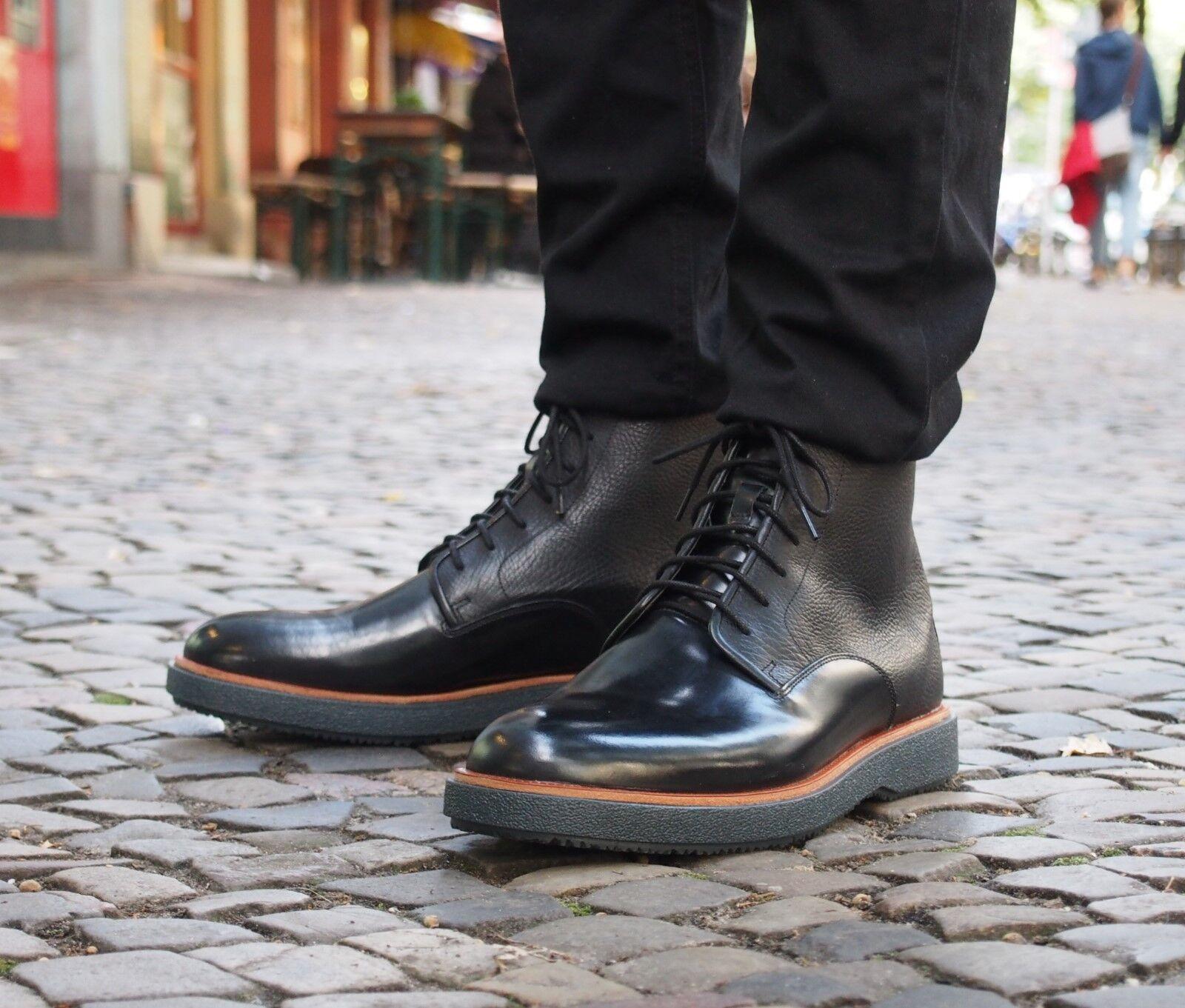 Clarks Originals Schuh Modur Hi Black Echtleder Herrenschuh Schnürschuh Neu SALE