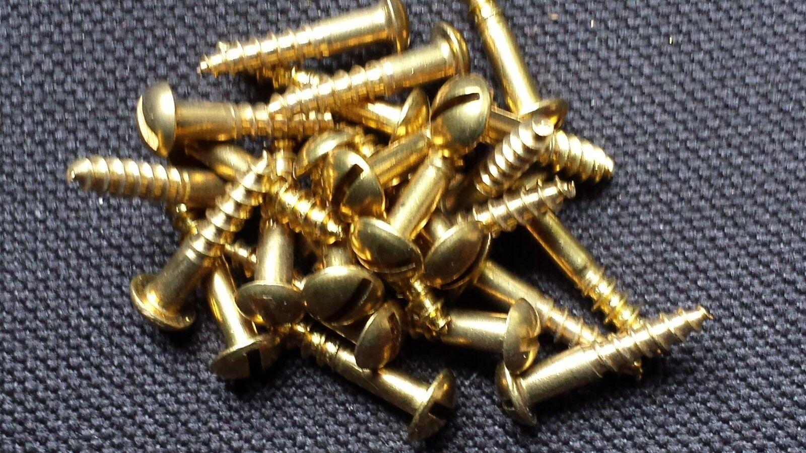 20 St/ück Messing Schraube 3,0 x 25 mm Halbrundkopf DIN 96 Holzschraube