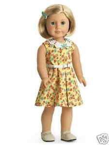 American Girl Kit/'s Floral-Print Dress Ivy Molly Nellie Rebecca Ruthie Samantha