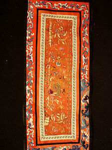 ANTIQUE-EARLY-2OTH-C-CHINESE-SILK-EMBROIDERY-HANGING