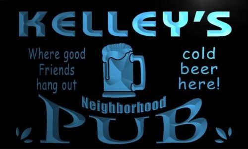 pg1198-b Kelley/'s Neighborhood Home Bar Pub Beer Neon Light Sign