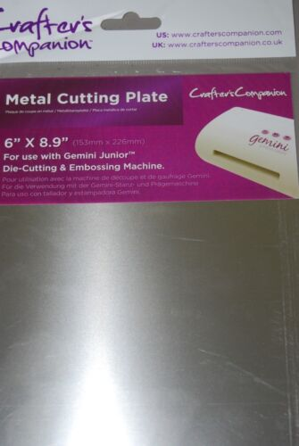 "Gemini Junior Metal Cutting Plate by Crafter/'s Companion 6/"" x 8.9/"" New"
