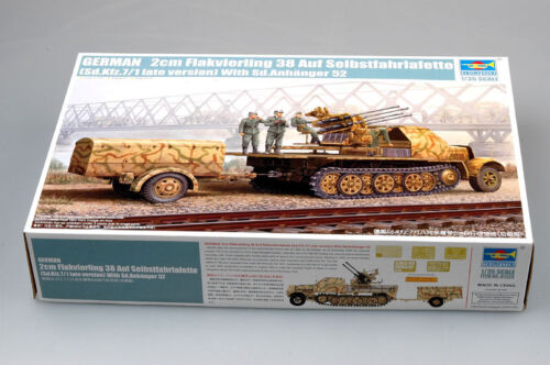 Trumpeter 1//35 01524 Flakvierling 38 Sd.Kfz.7//1 Late