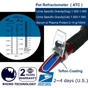 Rhino-Clinical-Pet-Dog-amp-Cat-Refractometer-HR305-ATC-Urine-Specific-test