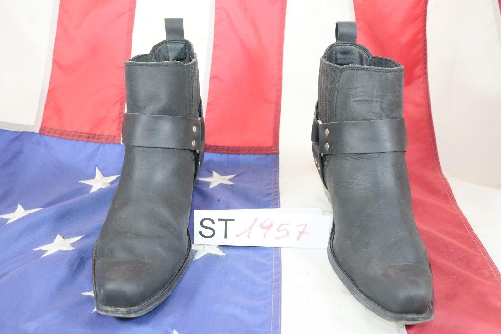 Stivali JOHNNY BULLS (Cod. ST1957) USATO N.46 men pelle black Cowboy Country