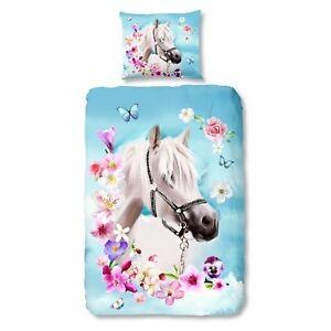 Good-morning-ropa-de-cama-4924-My-Beauty-caballo-flores-flores-multicolor