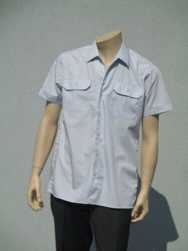 Bundeswehr servicio camisa BW recreativas camisa Business uniforme camisa luz-azul de manga corta