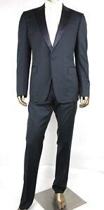 reputable site 75ec2 71a96 Dettagli su Nuovo Gucci Uomo Blu Scuro Lana Signoria Completo Tuxedo It 54l  / USA 44l 189527