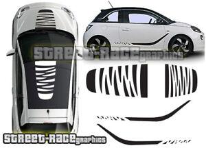 Details Zu Vauxhall Adam Ott001 Decal Vinyl Graphics Stickers Roof Bonnet Side Stripes