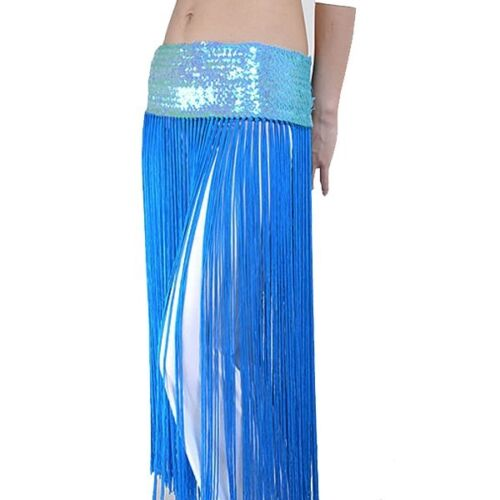 8X WHOLESALE Belly Dance Fringe Tassel Brilliant Hip Scarf Belt Skirt 8 colors