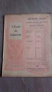 SCUOLA Del Concerto 1ers Solos Violino E.Nadaud Casa Costallat Spartito Be