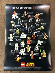 STAR-WARS-LEGO-Minifig-poster-Toy-Fair-2015-Press-Kit-very-rare