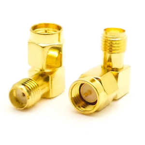 2pcs-5-8GHz-2-4GHz-Coaxial-Adapter-SMA-Male-to-SMA-Female-90-Degree-Jack-Plug