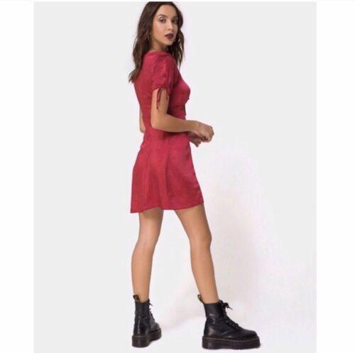 Details about  /Motel Rocks Guenelle Satin Cherry Dress Retail $73.00